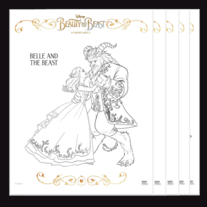 Free Beauty and the Beast Coloring Pages Feature