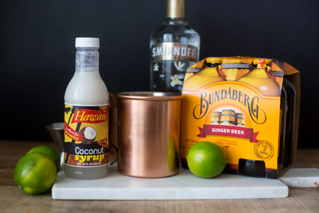 Inspired by Academy Awards Best Picture Nominee Moonlight, this Moonlight Miami Mule Cocktail is a delicious tropical twist on a classic mule and perfect for serving at your Oscars party this year!