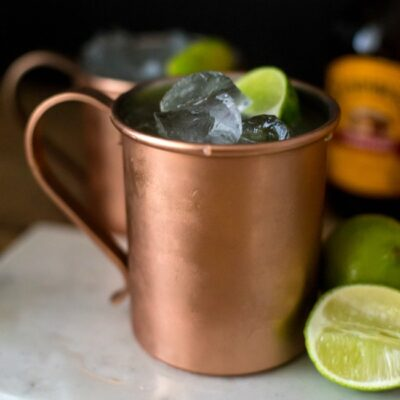 This Moonlight Miami Mule Cocktail is a delicious twist on a classic mule and perfect to whip up for your Academy Awards party.