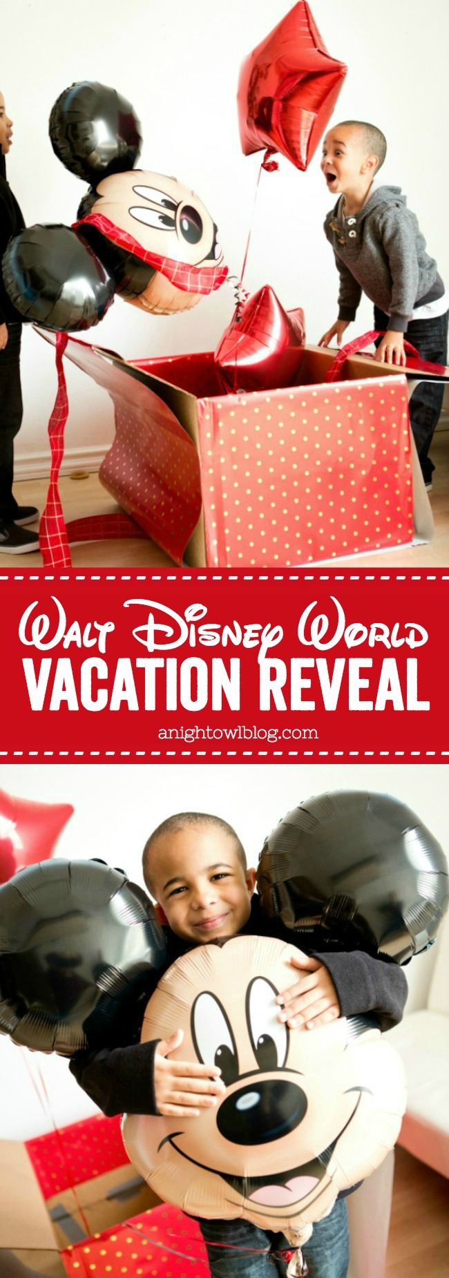 Such a fun idea for a Walt Disney World Vacation Reveal with free downloadable tag!
