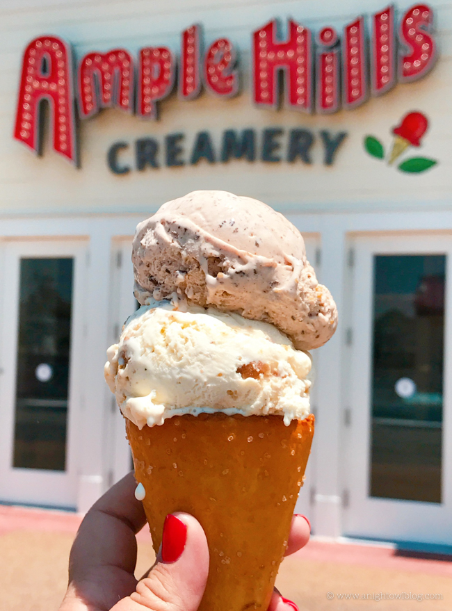 Ice Cream Pretzel Cone from Ample Hills Creamery, Disney's BoardWalk