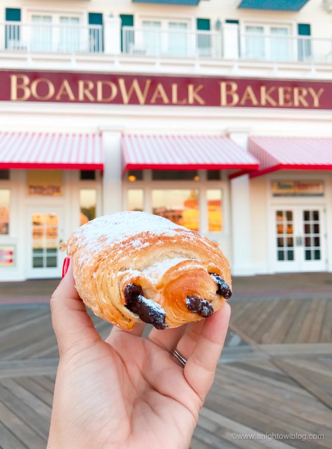 Chocolate Croissant from BoardWalk Bakery, Disney's BoardWalk