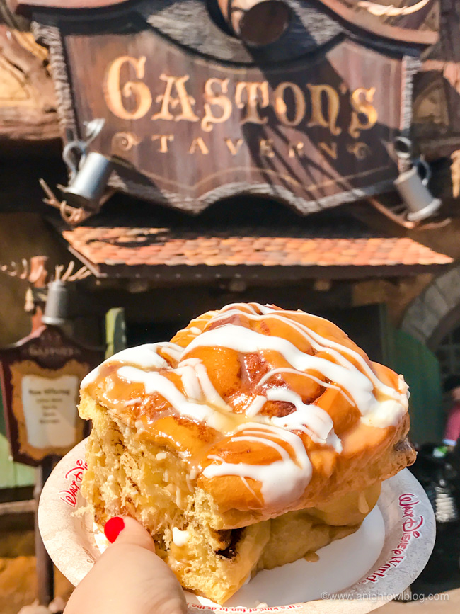 Warm Cinnamon Roll from Gaston's Tavern, Magic Kingdom