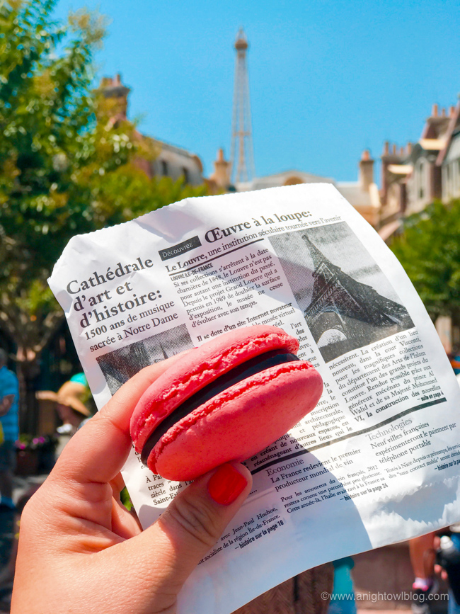 Guide to Eating Around the World at EPCOT: Macarons from Les Halles Boulangerie & Patisserie, France Pavilion at Epcot World Showcase #EPCOT #WaltDisneyWorld