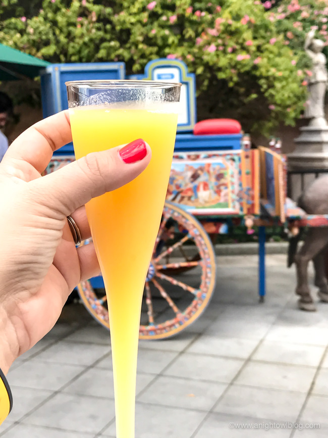 Limoncello Cocktail from Via Napoli Donkey Cart, Italy Pavilion at Epcot World Showcase