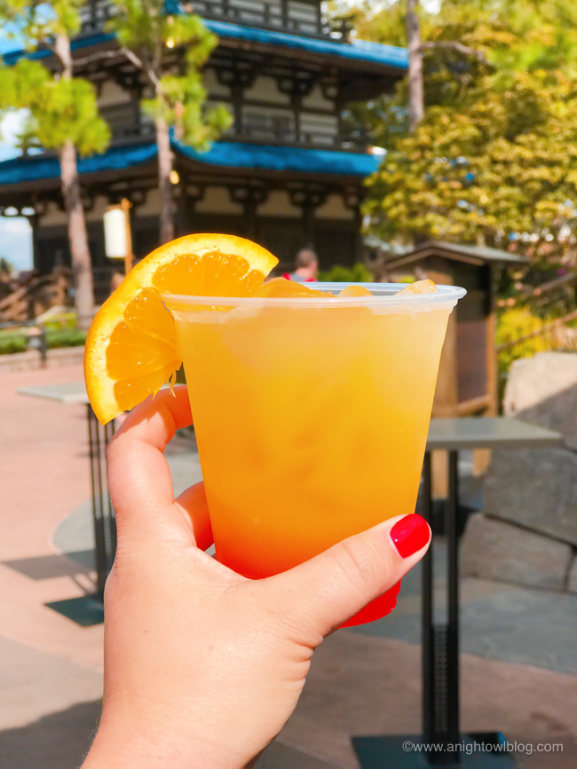 Guide to Drinking Around the World at EPCOT: Tokyo Sunset from the Outdoor Sake Bar, Japan Pavilion #Epcot #WaltDisneyWorld