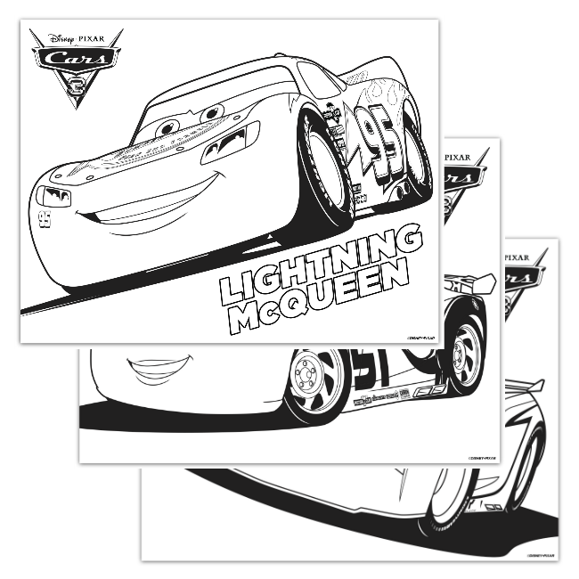 Disney pixar cars 3 coloring pages a night owl blog for Cars three coloring pages