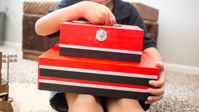 Excited about Disney•Pixar's Cars ‏3? Visit Amazon, the Ultimate Pit Stop for Cars 3 merchandise and whip up this adorable DIY Kids Toolbox Toy Box to keep them in!