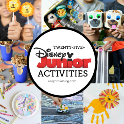 If you have Disney Junior fans in your home, then this is the list for you! Ward off summer boredom with this fun list of 25+ Disney Junior Activities - Crafts, Recipes and More!