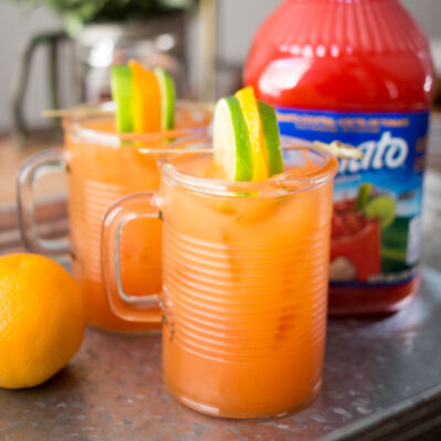 These Easy Brunch Micheladas are perfect for your next weekend brunch! A sweet and savory combo, serve them up with a hearty helping of delicious Chicken and Waffles!