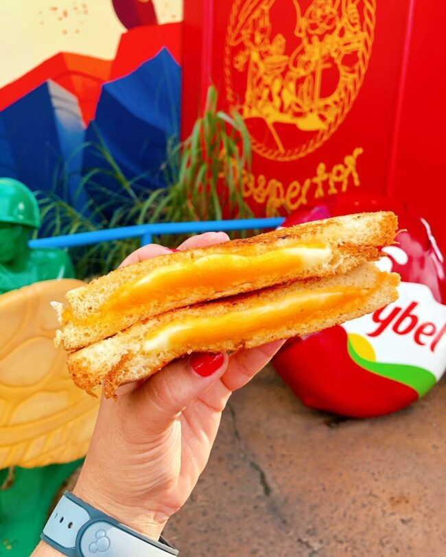 Grilled Three-Cheese Sandwich from Woody's Lunch Box