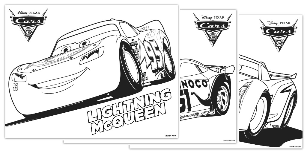 Disney Pixar Cars 3 Coloring Pages on christmas ideas 2017 html