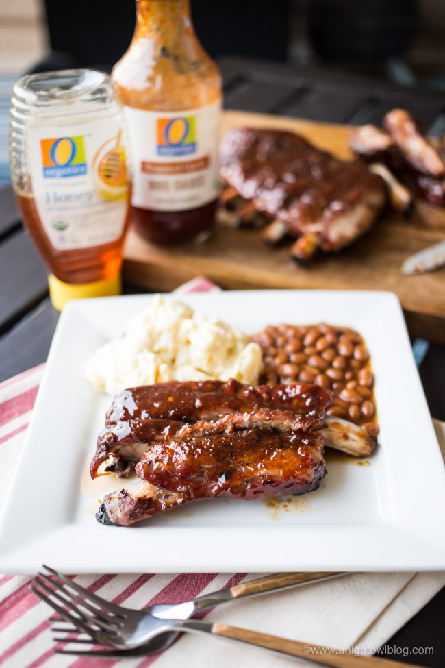 These Honey BBQ Glazed Ribs are delicious and grilled to perfection! Perfect for your summer BBQ or game day!