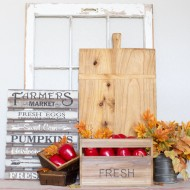 Put together Easy Fall Vignette Decor Ideas with fresh fall finds from Michaels!