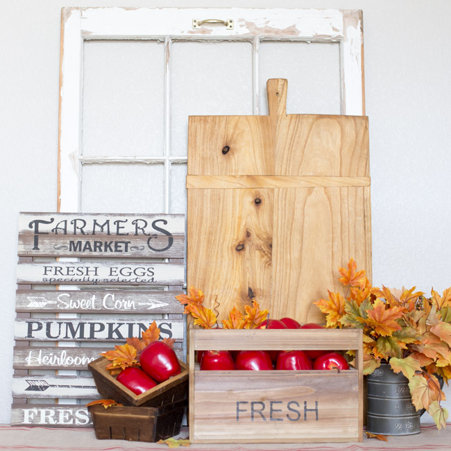 Easy fall vignette decor ideas a night owl blog for Decor vignette