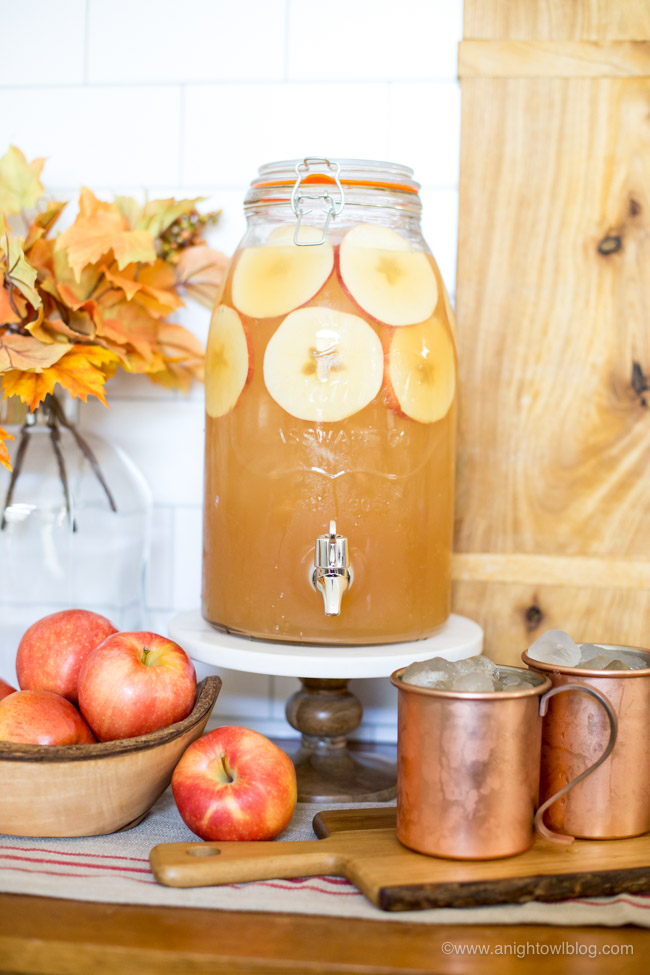 Spice up your fall with this delicious and easy to make Spiced Apple Rum Punch - featuring Bundaberg's new Spiced Ginger Beer! Perfect for fall entertaining!