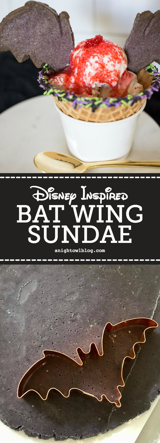 Can't make it to Disneyland for Halloweentime? Enjoy the next best thing, whip up a Disneyland Bat Wing Raspberry Sundae to enjoy from the comfort of home!