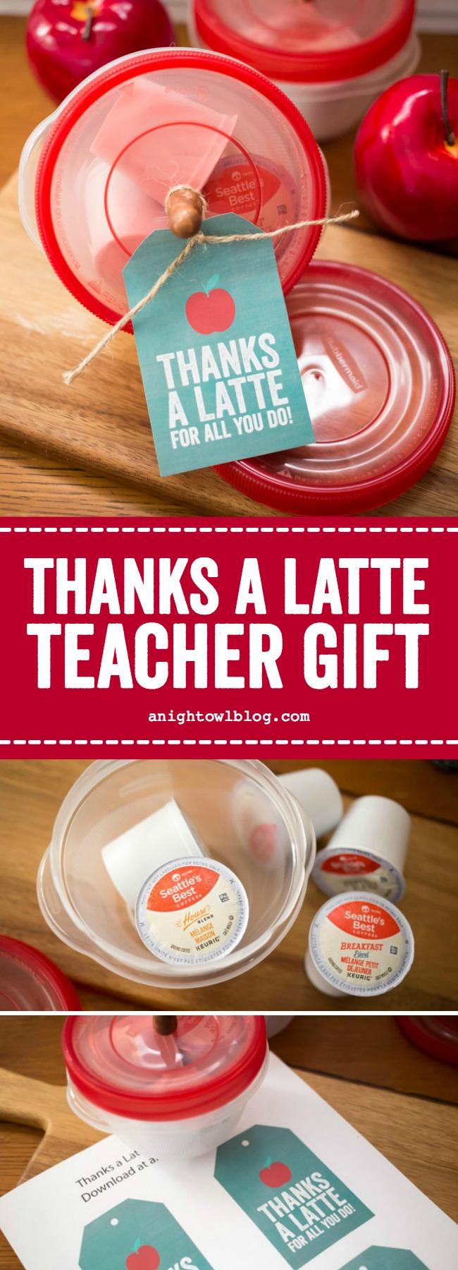 Thanks a Latte Teacher Gift