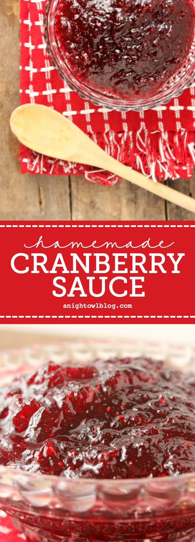 Upgrade your holiday meal with this Easy Homemade Cranberry Sauce!