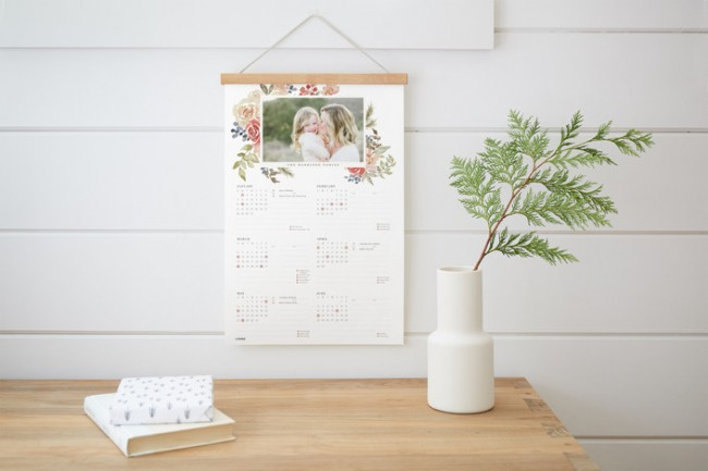 NEW! Minted Hanging Bar Calendar