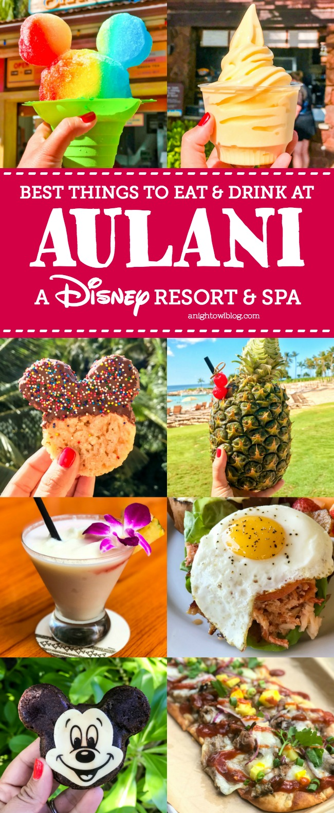 From Mickey Shaped Treats to fresh Poke Bowls, discover The Best Things to Eat and Drink at Aulani - A Disney Resort & Spa.