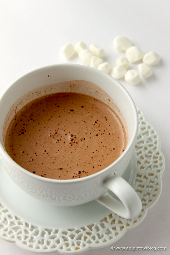Made from scratch with Nutella, chocolate and cream, this Creamy Nutella Hot Chocolate is just the indulgent treat you're looking for!