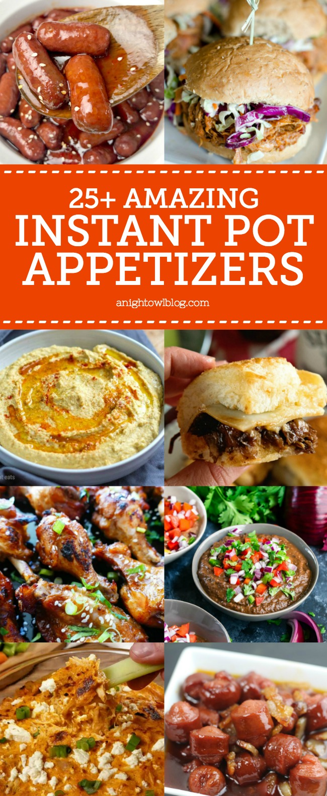 From BBQ Pulled Pork Sliders to Lil Smokies, discover over 25 Instant Pot Appetizer Recipes perfect for game day or your next get together!