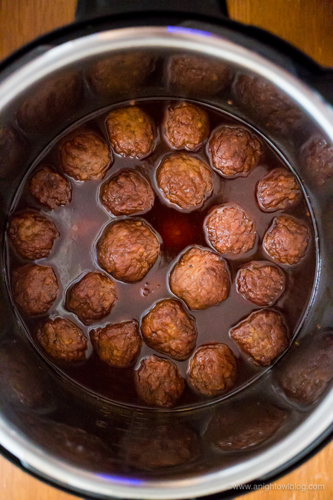 These Instant Pot Sweet and Spicy Meatballs are the perfect blend of sweet, spicy and smoky and are sure to be your new favorite appetizer!