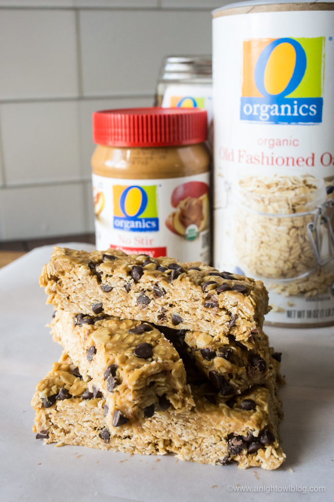 Get on the road to better snacking with these No Bake Homemade Organic Granola Bars made withOOrganics® from Albertsons and Safeway stores.