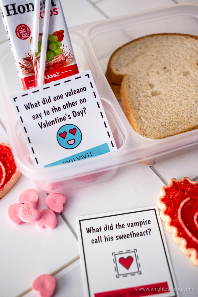 Download and print these Valentine's Day Lunch Box Jokes perfect for your kiddos lunch box or snacks around the holiday.
