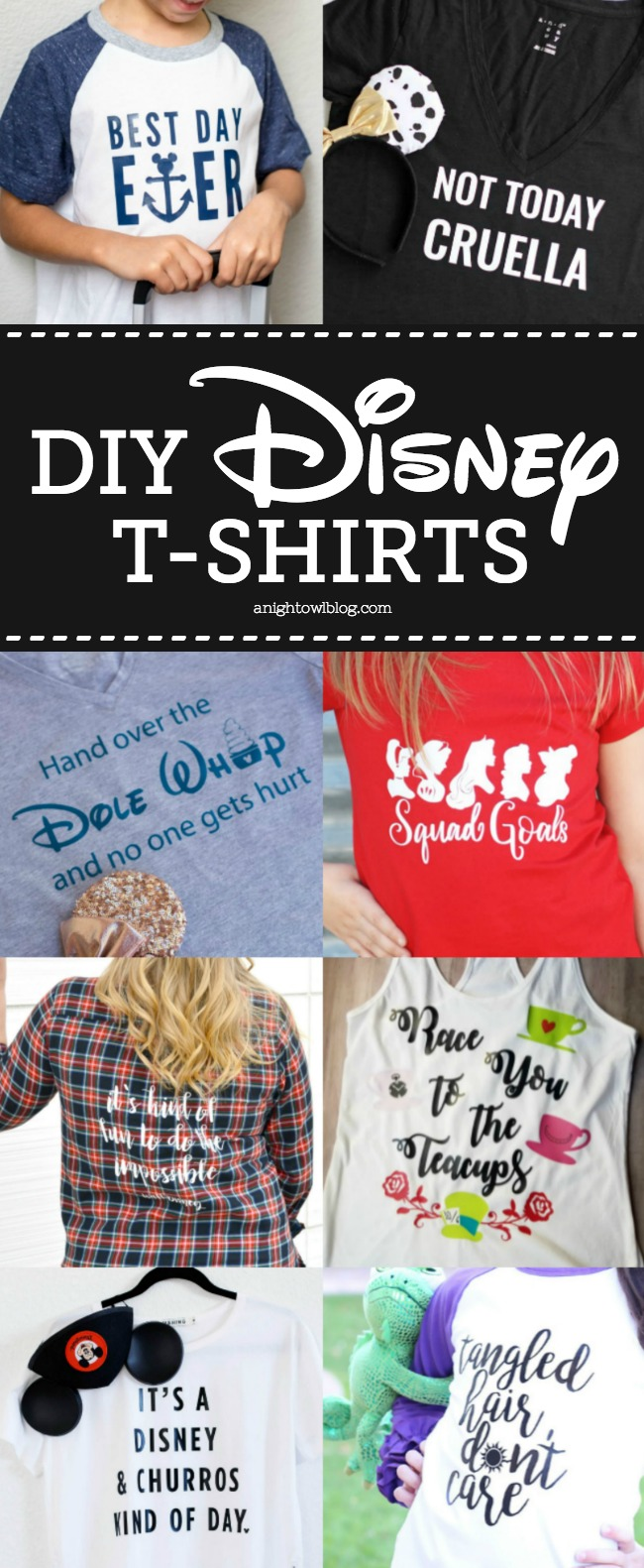 Such a fun list of DIY Disney Tees! #Disney #DisneyDIY #DisneySMMC