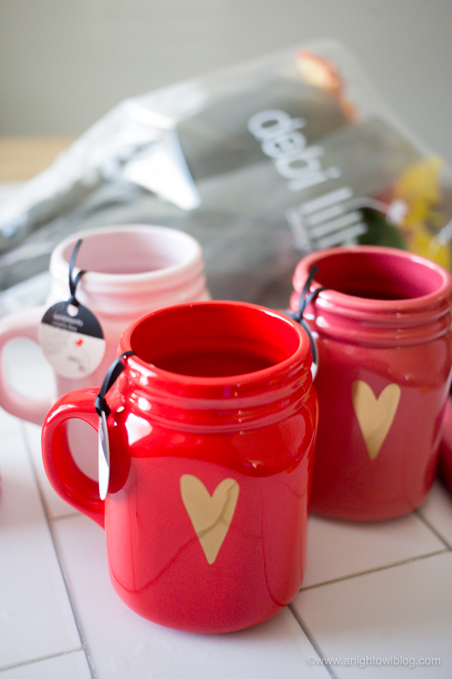 Perfect for a sweet Valentine's Day gift for friends, teachers, neighbors and more - create Valentine's Day Mason Jar Bouquets with Safeway's exclusive debi lilly design™ collection!