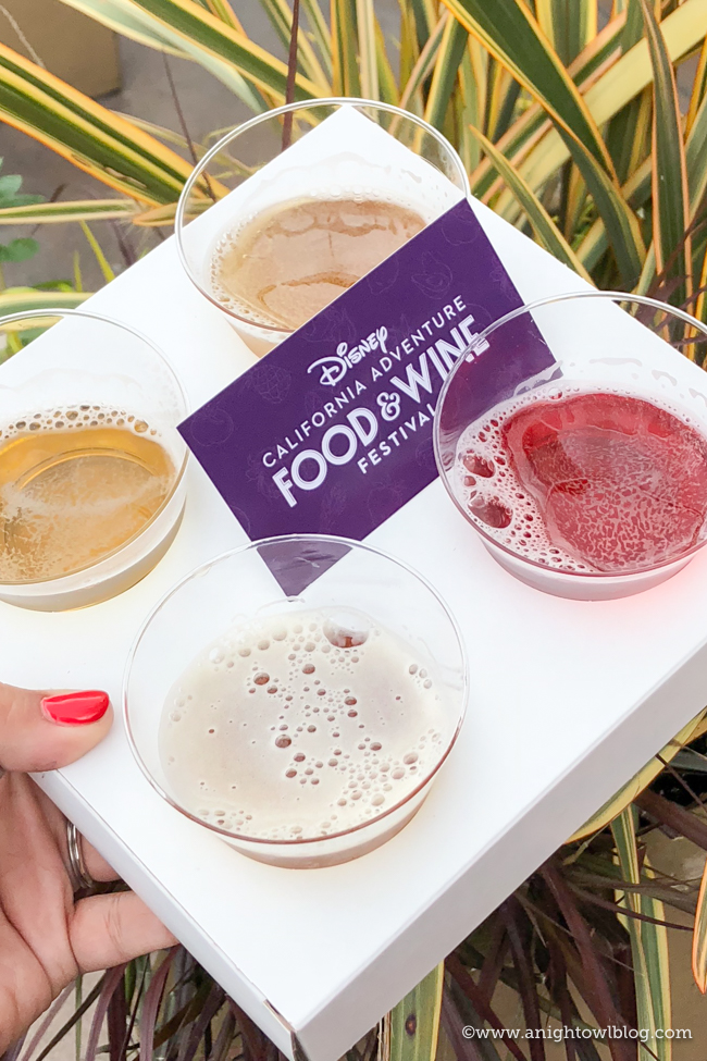 Disney California Adventure Food and Wine Festival Bright & Refreshing Beer Flight from California Craft Brews #DisneyCaliforniaFoodandWine #Disneyland