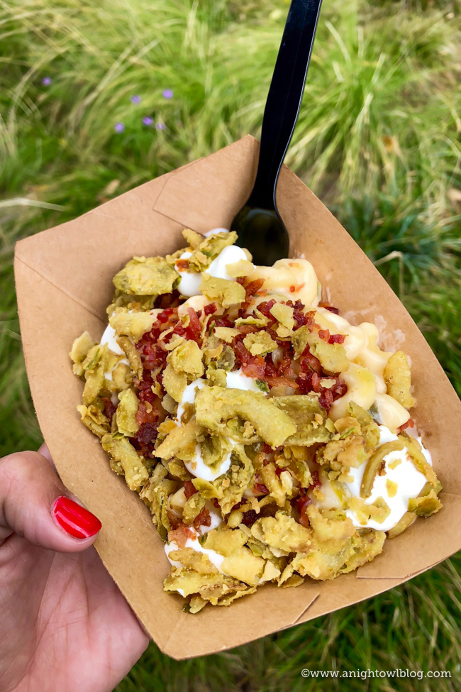 Disney California Adventure Food and Wine Festival Jalapeño Popper Mac & Cheese with Bacon from Peppers Cali-ente #DisneyCaliforniaFoodandWine #Disneyland