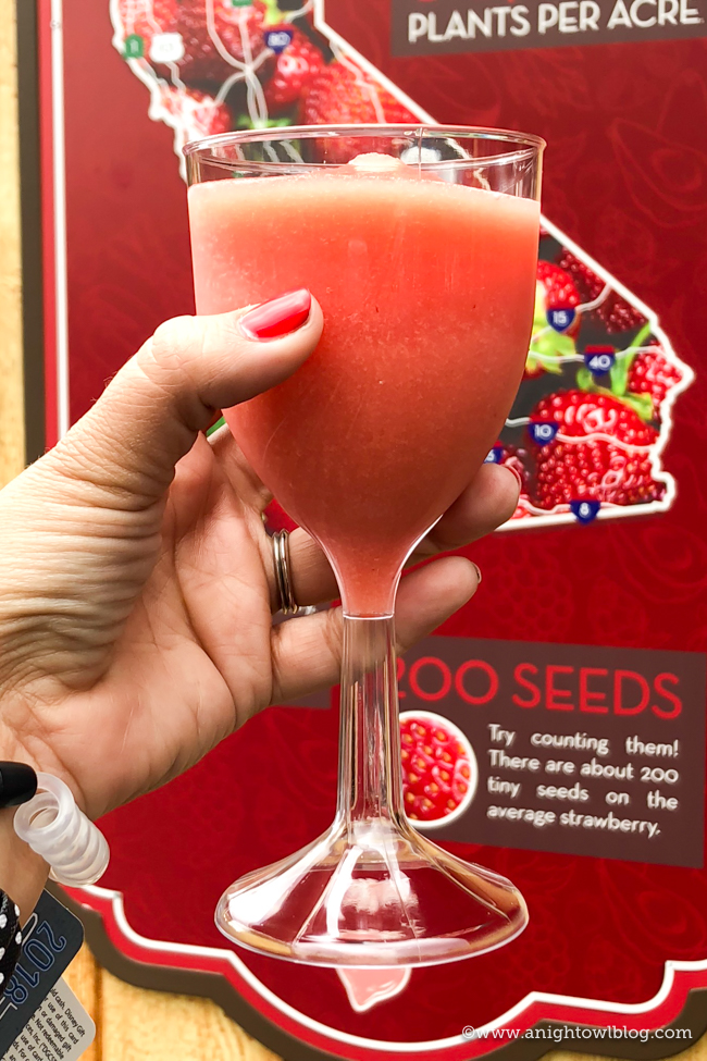 Disney California Adventure Food and Wine Festival Strawberry Frosé from Strawberry Patch #DisneyCaliforniaFoodandWine #Disneyland