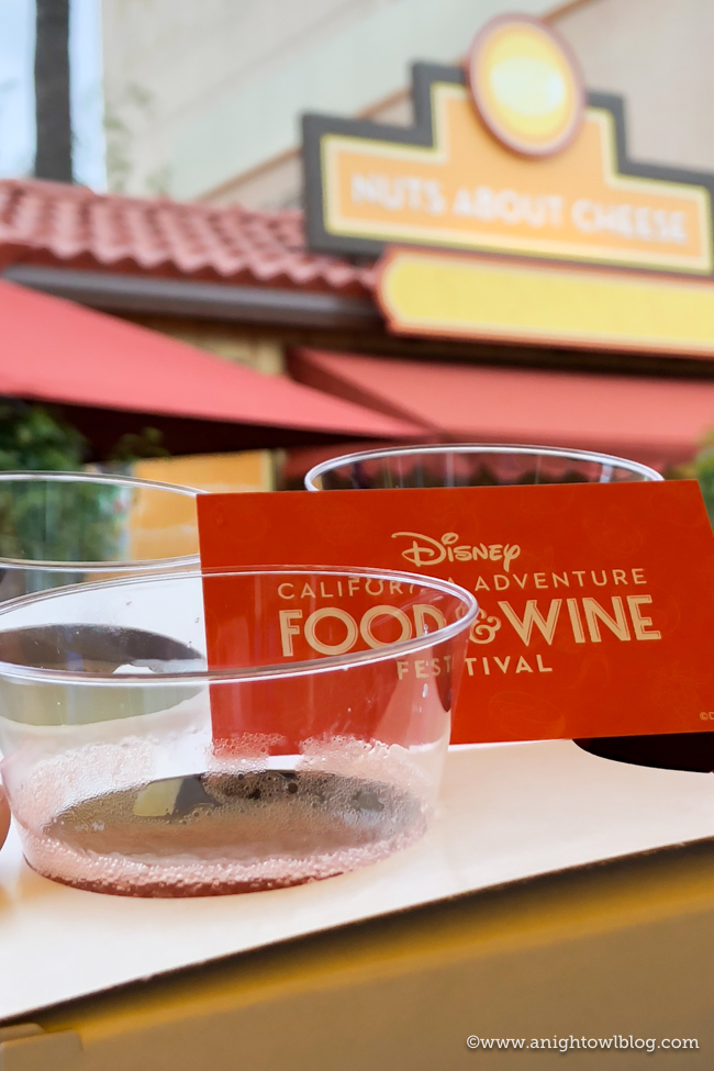 Disney California Adventure Food and Wine Festival Mimosa Flight from Nuts About Cheese #DisneyCaliforniaFoodandWine #Disneyland