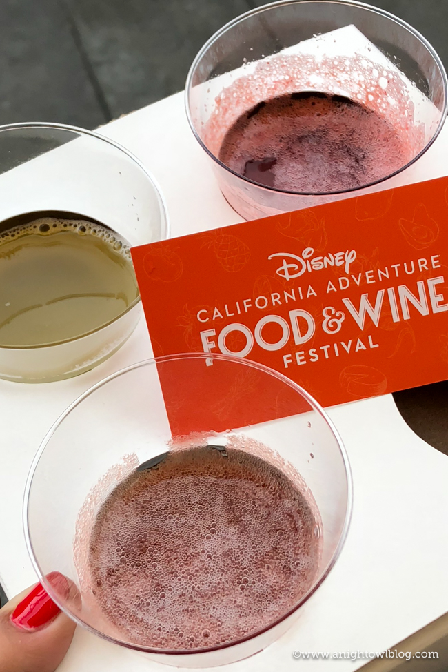 Disney California Adventure Food and Wine Festival Mimosa Flight from Nuts About Cheese #DisneyCaliforniaFoodandWine #Disneyland