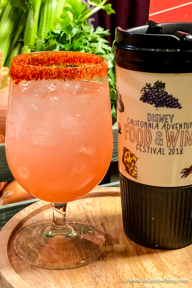 Disney California Adventure Food and Wine Festival Watermelon Lemonade (non-alcoholic), with optional Habanero Sugar & Chili-Lime Half-Rim from Peppers Cali-ente #DisneyCaliforniaFoodandWine #Disneyland