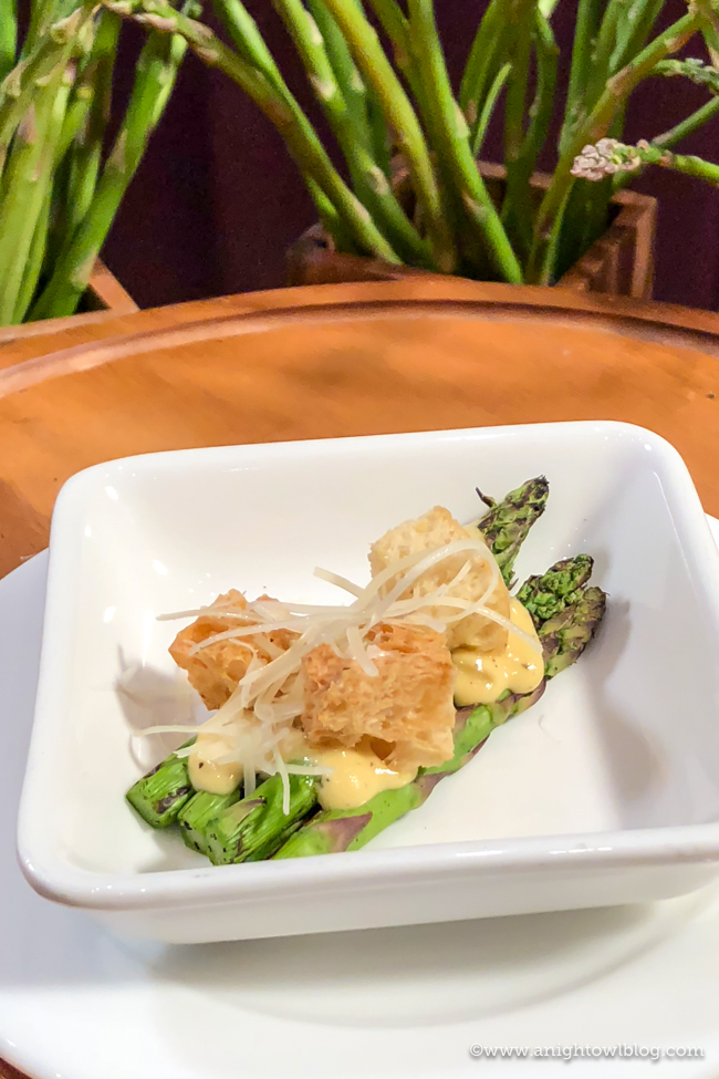 Disney California Adventure Food and Wine Festival Grilled Asparagus Caesar Salad from Eat Your Greens #DisneyCaliforniaFoodandWine #Disneyland