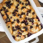 Easy Blueberry Danish Breakfast Casserole