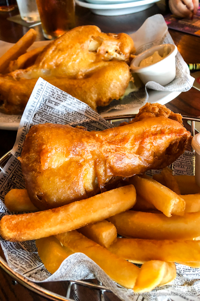 Guide to Eating Around the World at EPCOT: Fish and Chips from Rose & Crown Dining Room, Epcot World Showcase #EPCOT #WaltDisneyWorld