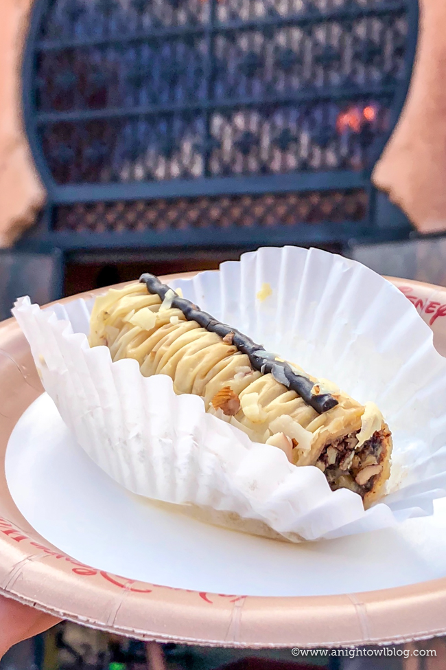 Guide to Eating Around the World at EPCOT: Honey Chocolate Baklava from Tangierine Cafe, Epcot World Showcase #EPCOT #WaltDisneyWorld