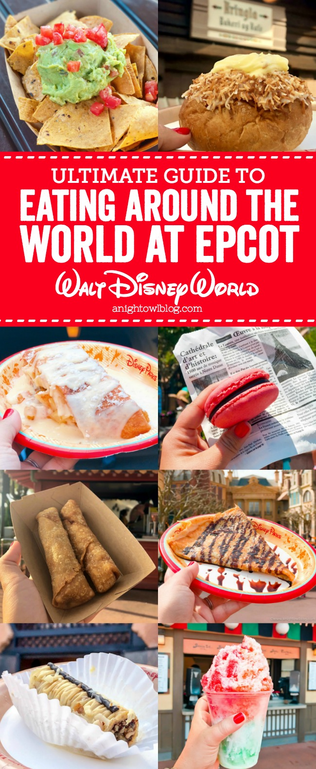 From Fish and Chips to Funnel Cake, follow our Guide to Eating Around the World at EPCOT in Walt Disney World!