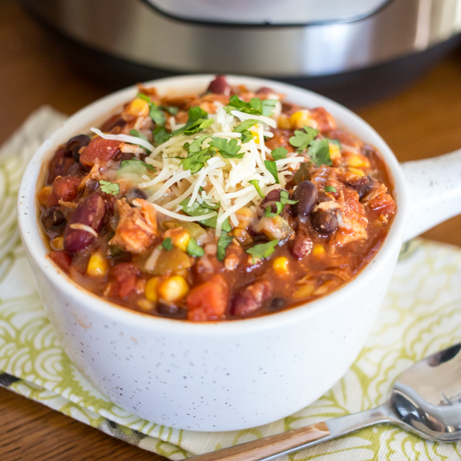 Instant Pot Turkey Chili is a quick and easy meal that you can make with leftover holiday turkey or ground turkey - an easy weeknight meal that your family is sure to love!