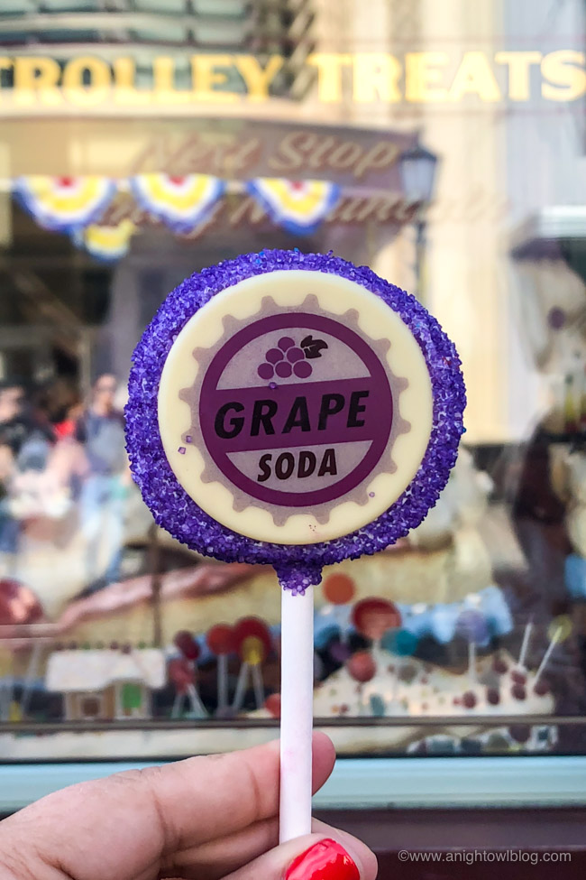 """UP"" Grape Soda Cake from Trolley Treats, Disney California Adventure Park, Buena Vista Street 