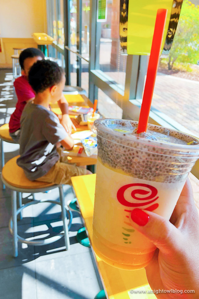 Add a little TLC to your day with delicious, nutrient-rich Mango Power Players from Jamba Juice. These super fruit-filled drinks are the perfect way for supermoms to recharge! #MangonificentMomma