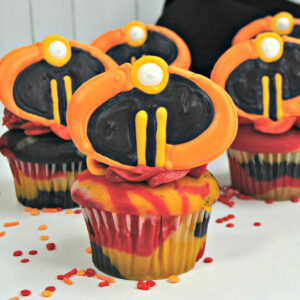 """Celebrate The Release Of """"Incredibles 2"""" In Theaters Everywhere With These Fun, Homemade Incredibles Cupcakes! #Disney #Incredibles2 #Incredibles2Event"""