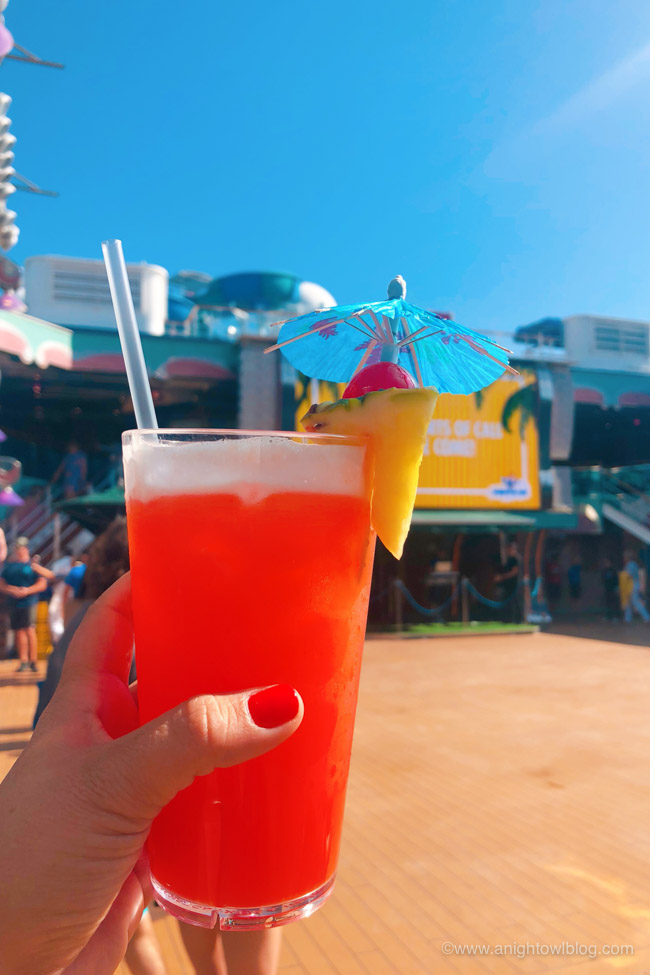 Best Drinks on Carnival Cruise Line - The Fun Ship Cocktail | From The Fun Ship to a Kiss on the Lips, check out the Top Ten Drinks to Order on your Carnival Cruise!