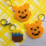 Winnie the Pooh Perler Bead Keychains