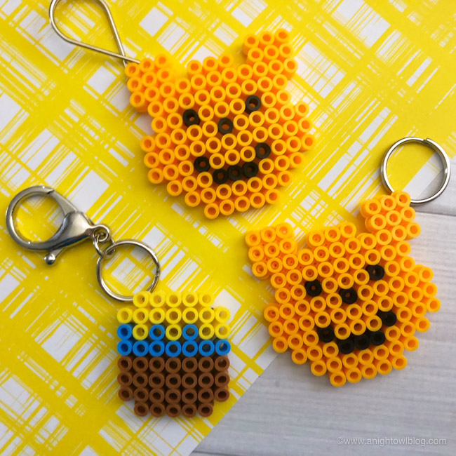 Just in time for Disney's Christopher Robin, these Winnie the Pooh Perler Bead Keychains are a fun and easy craft for kids or Winnie the Pooh fans!